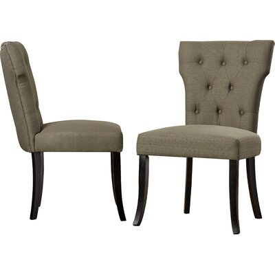Vangilder Parsons Upholstered Dining Chair Upholstery Color: Basil Green