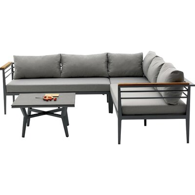 Agora Skyros Outdoor 3 Piece Deep Seating Group with Cushion