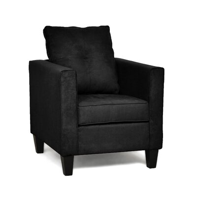 Antlia Armchair Upholstery Color: Bulldozer Black