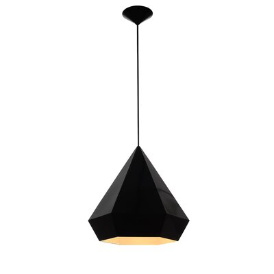 Idlewild 1-Light Foyer Pendant Finish: Black