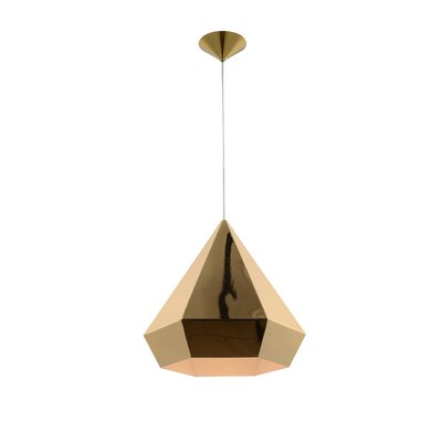 Idlewild 1-Light Mini Pendant Finish: Gold