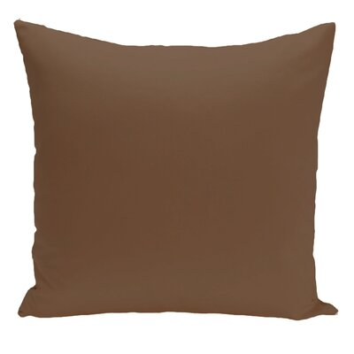 Merauke Solid Decorative Throw Pillow Color: Cocoa