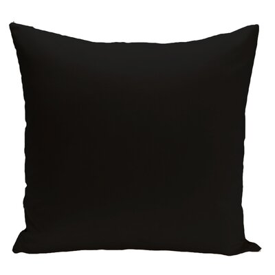 Merauke Solid Decorative Throw Pillow Color: Black