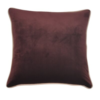 Douglas Forge Solid Decorative Throw Pillow Color: Burgundy