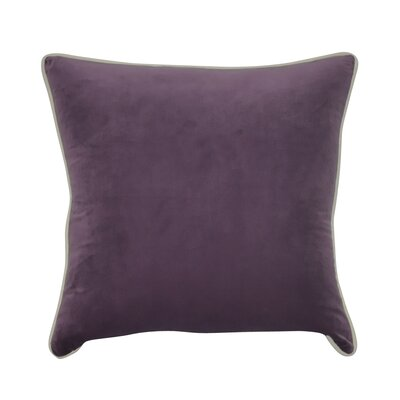 Douglas Forge Solid Decorative Throw Pillow Color: Purple