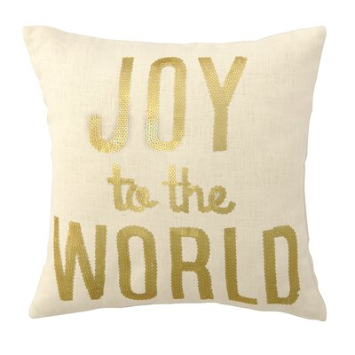 Joy to the World Sequins Throw Pillow