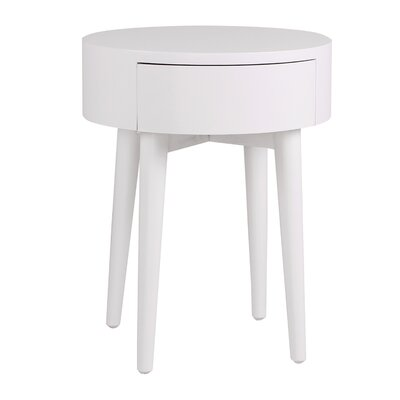Lansdown End Table Color: White