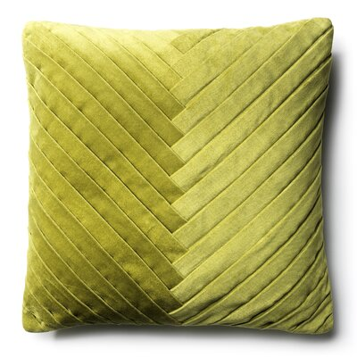 Northwick 100% Cotton Throw Pillow Color: Green