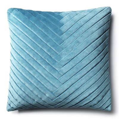 Northwick 100% Cotton Throw Pillow Color: Light Blue
