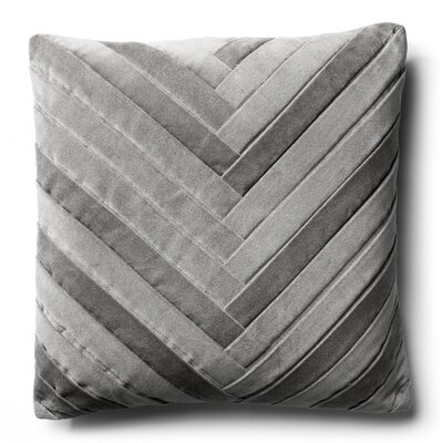 Northwick Cotton Velvet Throw Pillow Color: Silver Grey
