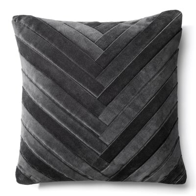 Northwick 100% Cotton Throw Pillow Color: Dark Grey