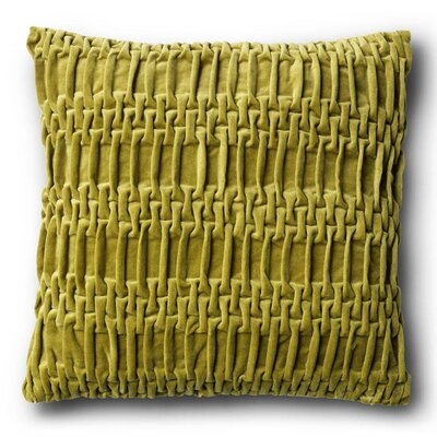 Longwood Track Cotton Velvet Throw Pillow Size: 15.8 H x 15.8 W, Color: Green