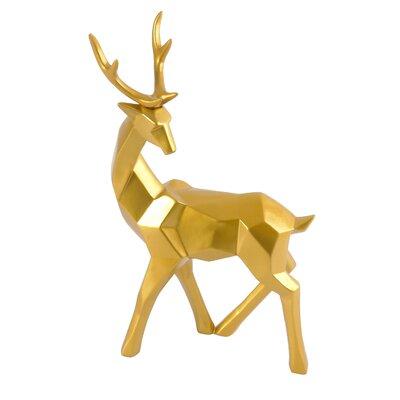 Brayden Studio Head Back Deer Figurine