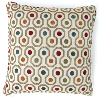 Vinton Dotted Throw Pillow Color: Multi, Size: Large