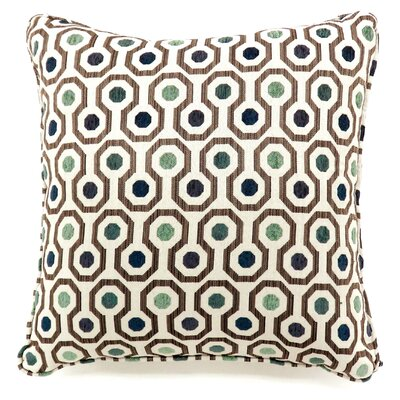 Vinton Dotted Throw Pillow Color: Gray, Size: Large