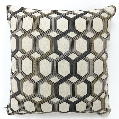 Scaife Hexagon Print Throw Pillow Color: Gray, Size: Small