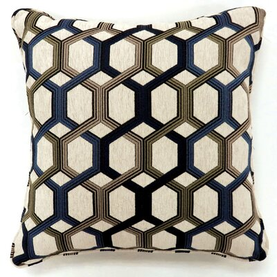 Scaife Hexagon Print Throw Pillow Color: Blue, Size: Small