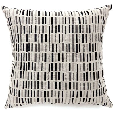 Grise Tile Print Throw Pillow Color: Black, Size: Large