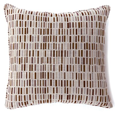 Grise Tile Print Throw Pillow Color: Brown, Size: Large