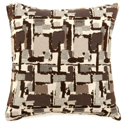 Shuff Mosaic Print Throw Pillow Size: Large, Color: Brown