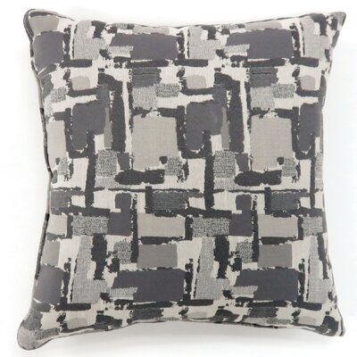 Shuff Mosaic Print Throw Pillow Size: Large, Color: Gray