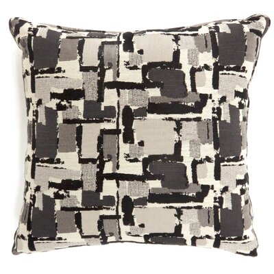 Shuff Mosaic Print Throw Pillow Color: Black, Size: Large