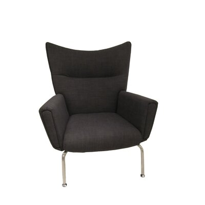Nebel Armchair and Ottoman Color: Charcoal
