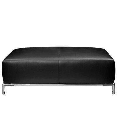 Halpin Ottoman Upholstery: Black