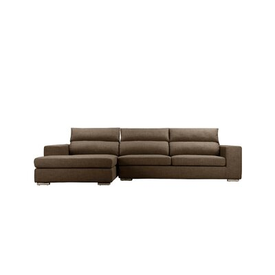 Halpin Modular Sectional Upholstery: Brown, Orientation: Left Hand Facing