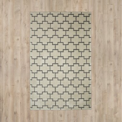 Nickson Cream/Gray Area Rug Rug Size: Rectangle 5 x 8