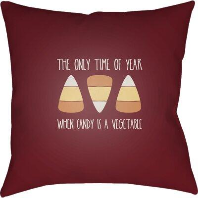 Marten Indoor/Outdoor Throw Pillow Size: 20 H x 20 W x 4 D, Color: Red/Orange/White