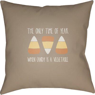 Marten Indoor/Outdoor Throw Pillow Size: 20 H x 20 W x 4 D, Color: Brown/White/Orange