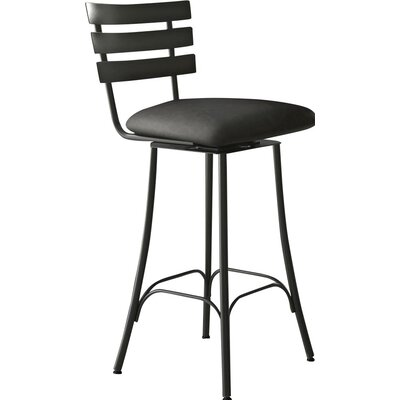Bax 26.75 Swivel Bar Stool Finish: Semi-Transparent/Medium Grey