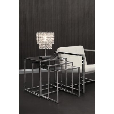 Travis Heights 3 Piece Nesting Tables Color: Chrome