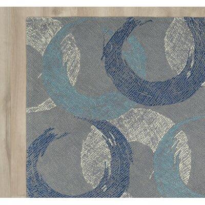 Brayden Studio Louane Hand-Tufted Gray/Blue Area Rug