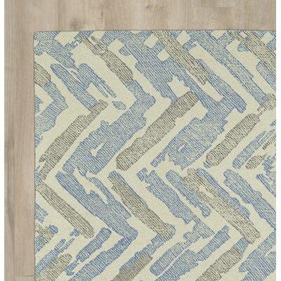 Brayden Studio Louane Hand-Tufted Beige/Blue Area Rug