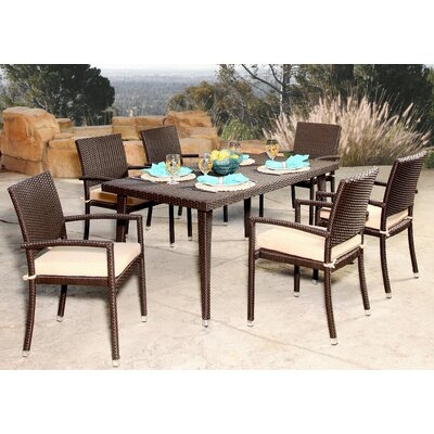 Arrandale 7 Piece Dining Set with Cushions