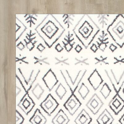Alcyone Hand-Tufted Gray Area Rug Rug Size: 76 x 96