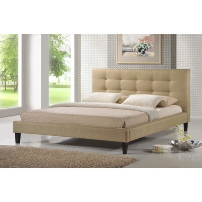 Frisina Upholstered Platform Bed Size: Queen, Color: Dark Beige