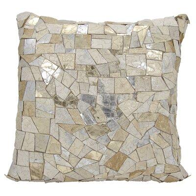 Brayden Studio Pedrick Natural Leather Hide Throw Pillow