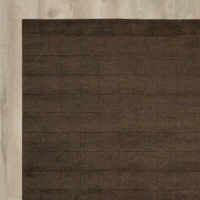 Hocker Hand-Knotted Brown Area Rug Rug Size: Rectangle 8 x 11