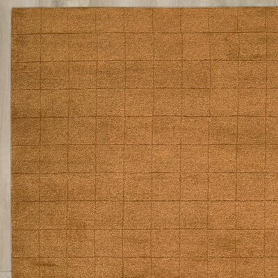 Hocker Hand-Knotted Brown Area Rug Rug Size: 8 x 11