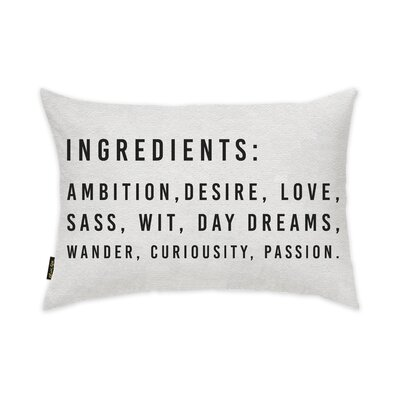 Buffalo Ingredients Lumbar Pillow Size: 14 X 20