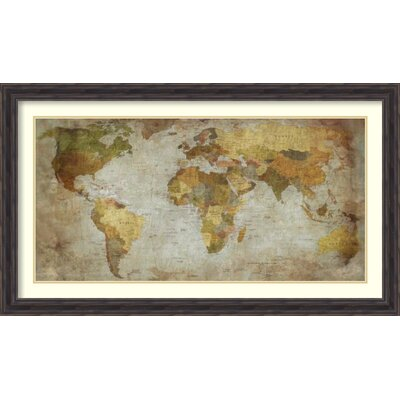 Anima Mundi Map Framed Graphic Art