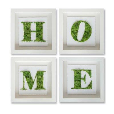 4-Piece Moss Home Wall Decor Set, Oliver Gal