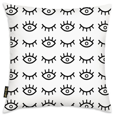 Bruckner Eye Cant Sleep Throw Pillow Size: 18 x 18