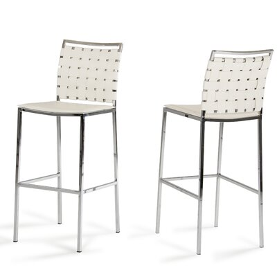 Burkett 30 Bar Stool Upholstery: White