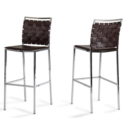 Burkett 30 Bar Stool Upholstery: Brown
