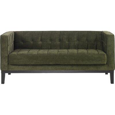 Verdi Tufted Chesterfield Loveseat Upholstery: Green