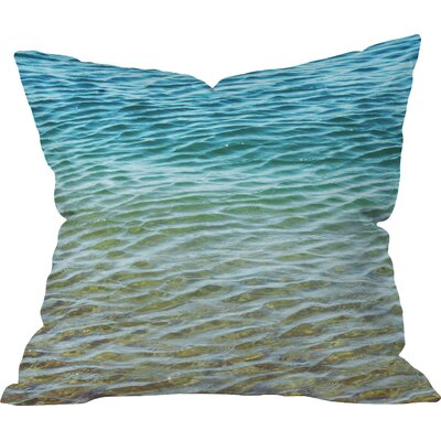 Meunier Ombre Sea Outdoor Throw Pillow Size: Large